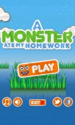 A Monster Ate My Homework Android Mobile Phone Game