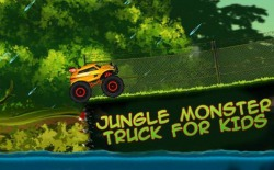 Jungle Monster Truck For Kids Android Mobile Phone Game
