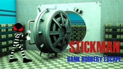 Stickman Bank Robbery Escape Android Mobile Phone Game