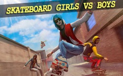 Skateboard: Girls Vs Boys Android Mobile Phone Game