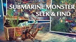 Hidden Objects: Submarine Monster. Seek And Find Android Mobile Phone Game