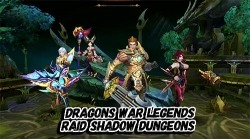 Dragons War Legends: Raid Shadow Dungeons Android Mobile Phone Game