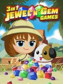 3 in 1 Jewel'n'Gem Games Game for Samsung S3850 Corby II