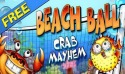 Beach Ball. Crab Mayhem Game for Mobile Phone