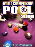 World Championship Pool 2009 3D Java Mobile Phone Game