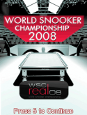 World Snooker Championship 2008 3D Java Mobile Phone Game