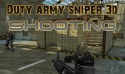 Duty Army Sniper 3d: Shooting Dell Mini 3iX Game