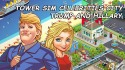 Tower Sim: Celebrities City. Trump And Hillary Android Mobile Phone Game