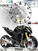 Bike Clock S40 Mobile Phone Theme