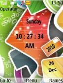 Awesome Design Clock S40 Mobile Phone Theme