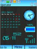 Calendar Battery S40 Mobile Phone Theme