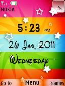 Color Design Clock S40 Mobile Phone Theme