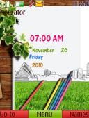 Digital Drawing S40 Mobile Phone Theme
