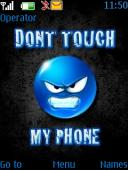 Dont Touch S40 Mobile Phone Theme