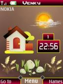 Farm House Clock S40 Mobile Phone Theme