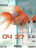 Fish Clock S40 Mobile Phone Theme