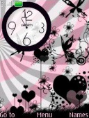 Love Clock S40 Mobile Phone Theme