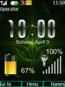 Matrix Battery S40 Mobile Phone Theme
