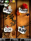 Note Clock S40 Mobile Phone Theme