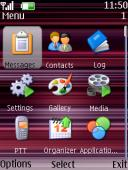 Purple Strip S40 Mobile Phone Theme