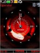 Sharingan Clock S40 Mobile Phone Theme