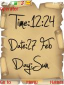 Time Date And Clock S40 Mobile Phone Theme