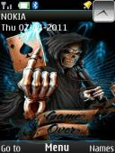 Game Over S40 Mobile Phone Theme
