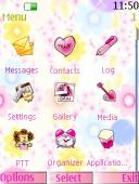Pink Icons S40 Mobile Phone Theme