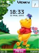 Pooh Clock S40 Mobile Phone Theme