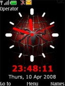 Clock Spiderman S40 Mobile Phone Theme