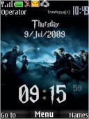 Harry Potter Clock S40 Mobile Phone Theme