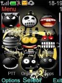 Black Smiley S40 Mobile Phone Theme