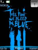 Bleed Blue S40 Mobile Phone Theme