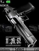 Gun Clock S40 Mobile Phone Theme