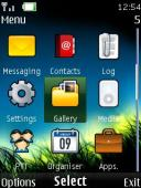 Night Grass 4d S40 Mobile Phone Theme