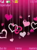 Pink Hearts S40 Mobile Phone Theme