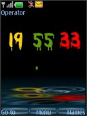 Rainy Digital Clock S40 Mobile Phone Theme