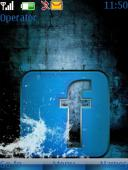 Water Facebook S40 Mobile Phone Theme