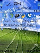Broken Screen Symbian Mobile Phone Theme