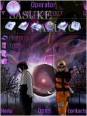 Naruto And Sasuke Symbian Mobile Phone Theme