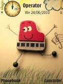 Piano Symbian Mobile Phone Theme