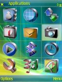 3d Style Symbian Mobile Phone Theme