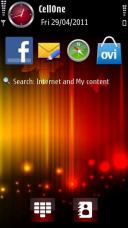 Red Symbian Mobile Phone Theme