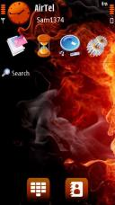 Touch Fire Symbian Mobile Phone Theme