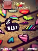 Hearts Symbian Mobile Phone Theme