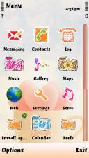 Old Sketch Symbian Mobile Phone Theme