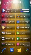 Stripe Light Symbian Mobile Phone Theme