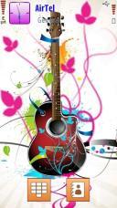 Guitar Symbian Mobile Phone Theme