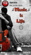 Music Is Life Symbian Mobile Phone Theme