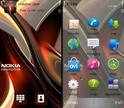 Abstract Nokia Symbian Mobile Phone Theme
